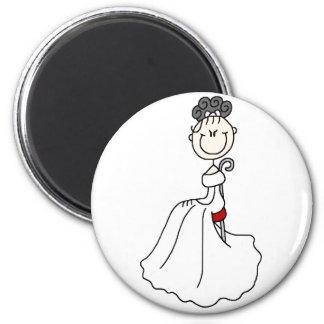 Figura negra imán del palillo de la novia
