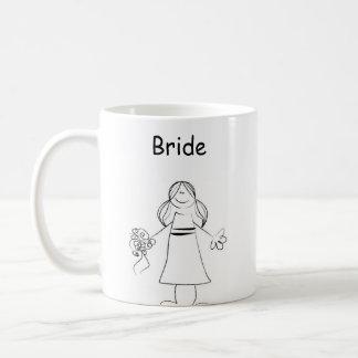 Figura novia del palillo taza básica blanca