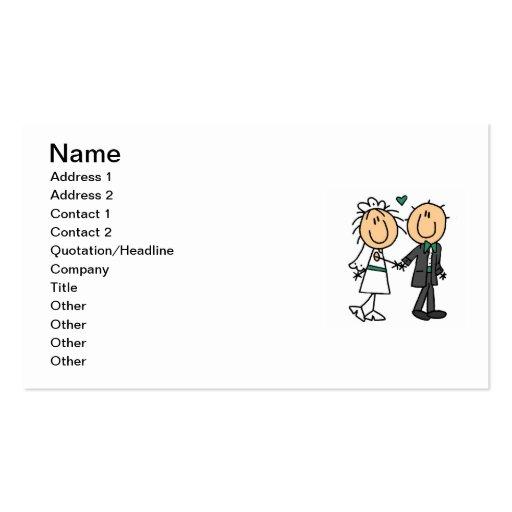 Figura novia del palillo y camisetas y regalos del plantilla de tarjeta personal