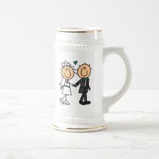 Figura novia del palillo y camisetas y regalos del jarra de cerveza