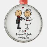 Figura novia y novio del palillo personalizados adorno