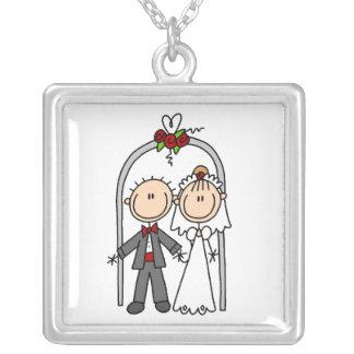 Figura nuevo collar de novia del palillo y del nov
