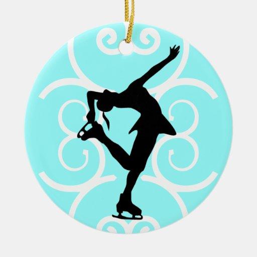 Figura ornamento del patinador - azul claro - pers ornamento para reyes magos
