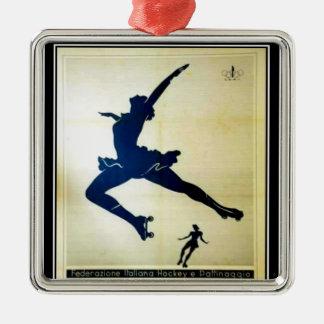 Figura ornamento del Rollerskating Adornos De Navidad