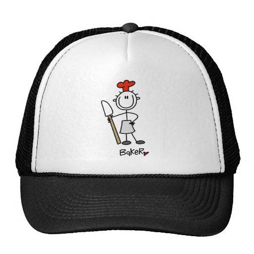 Figura panadero del palillo gorras de camionero