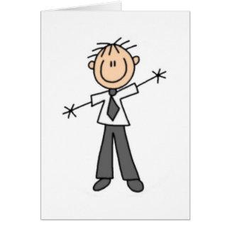 Figura papá del palillo tarjeta de felicitación