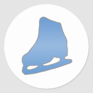 Figura patín azul pegatina redonda