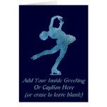 Figura patinador azul fresca felicitación