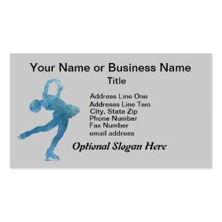 Figura patinador azul fresca tarjetas de visita