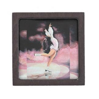 Figura patinador caja de recuerdo de calidad