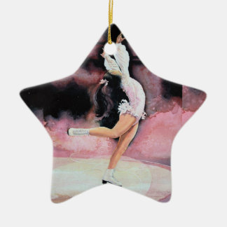 Figura patinador ornamento para arbol de navidad