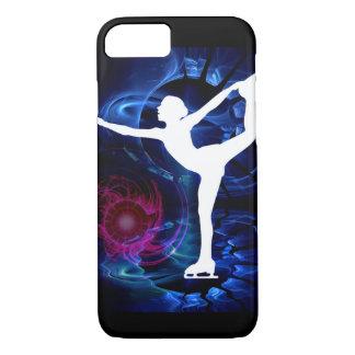 Figura patinador en el hielo del tecnicolor funda iPhone 7