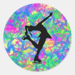 Figura patinador - pegatina colorido de las