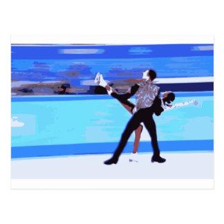Figura patinador postales
