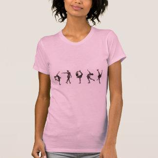 Figura patinadores, rosa, modelo gris camiseta