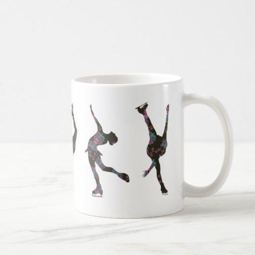Figura patinadores, rosa, modelo gris taza