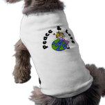 Figura paz del palillo del chica y camisetas y reg camisas de perritos