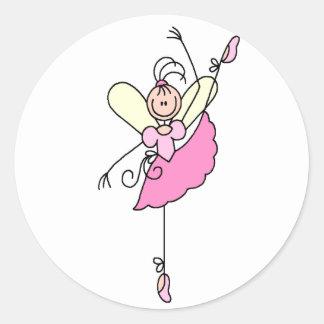 Figura pegatina del palillo de la bailarina