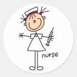 Figura pegatina del palillo de la enfermera