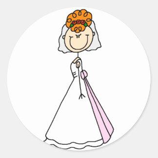 Figura pegatina del palillo de la novia del