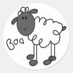 Figura pegatina del palillo de las ovejas
