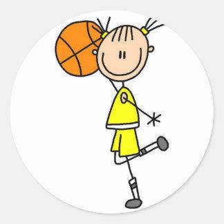 Figura pegatina del palillo del baloncesto