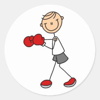 Figura pegatina del palillo del boxeo