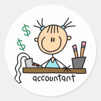 Figura pegatina del palillo del contable