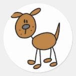 Figura pegatina del palillo del perro