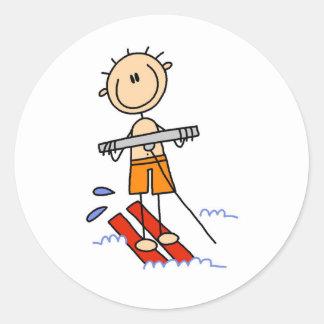 Figura pegatinas del palillo del esquí acuático