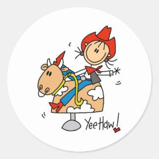Figura pegatinas del palillo del Haw de Yee de la Etiqueta Redonda