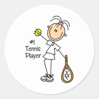 Figura pegatinas del palillo del jugador de tenis