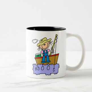 Figura pesca del palillo del chica tazas de café