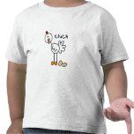 Figura pollo del palillo camisetas