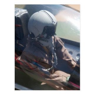Figura postal del piloto de avión de combate