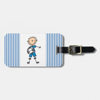 Figura regalos del palillo del uniforme del azul d etiqueta de equipaje