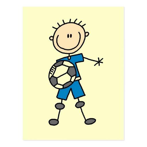 Figura regalos del palillo del uniforme del azul d tarjetas postales