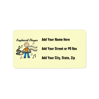 Figura regalos masculinos del palillo del teclista etiquetas de dirección