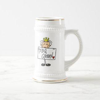 Figura reina del palillo del Bbq Jarra De Cerveza