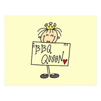 Figura reina del palillo del Bbq Tarjetas Postales