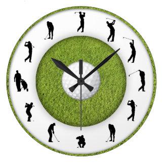 Figura reloj del golfista del club de golf del