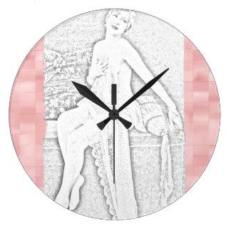Figura reloj retro del vintage del rosa - elija la