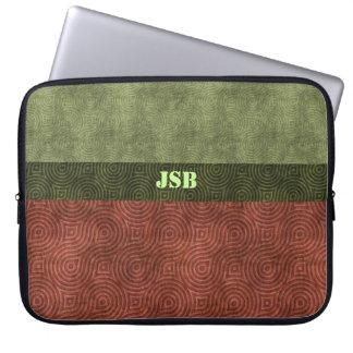 Figura retra verde personalizable del arándano de  fundas computadoras