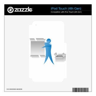 Figura reunidores del palillo del hombre del motor calcomanías para iPod touch 4G