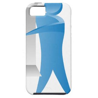 Figura reunidores del palillo del hombre del motor funda para iPhone SE/5/5s