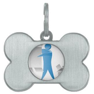Figura reunidores del palillo del hombre del motor placas mascota