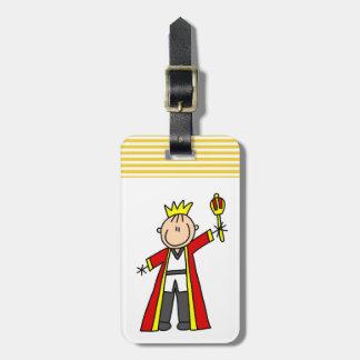Figura rey del palillo etiquetas maleta