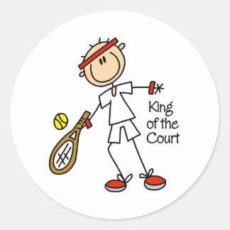 Figura rey Of The Court Stickers del palillo Pegatina Redonda