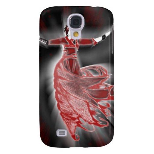 Figura roja caso del iPhone 3G Funda Para Galaxy S4
