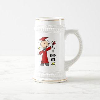 Figura roja graduado del palillo del muchacho jarra de cerveza